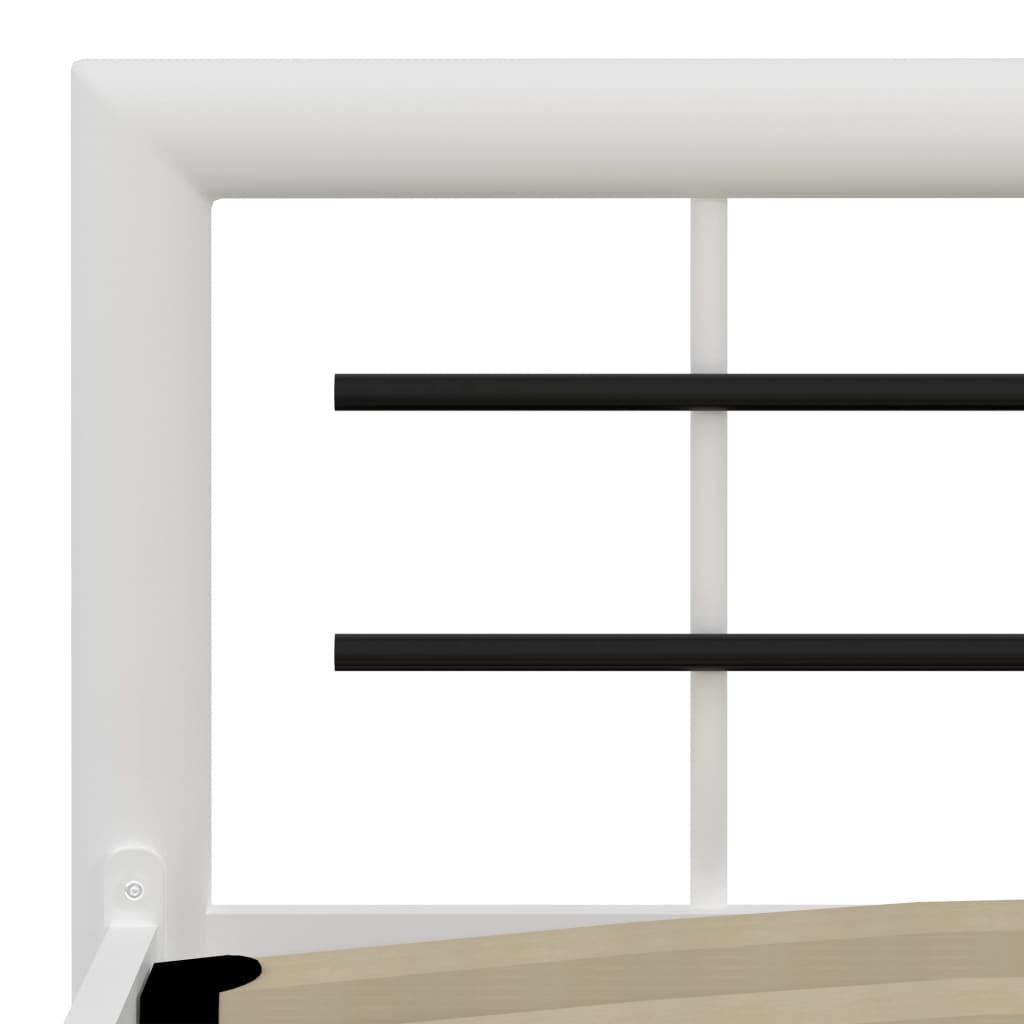 Cadru de pat, alb și negru, 100 x 200 cm, metal