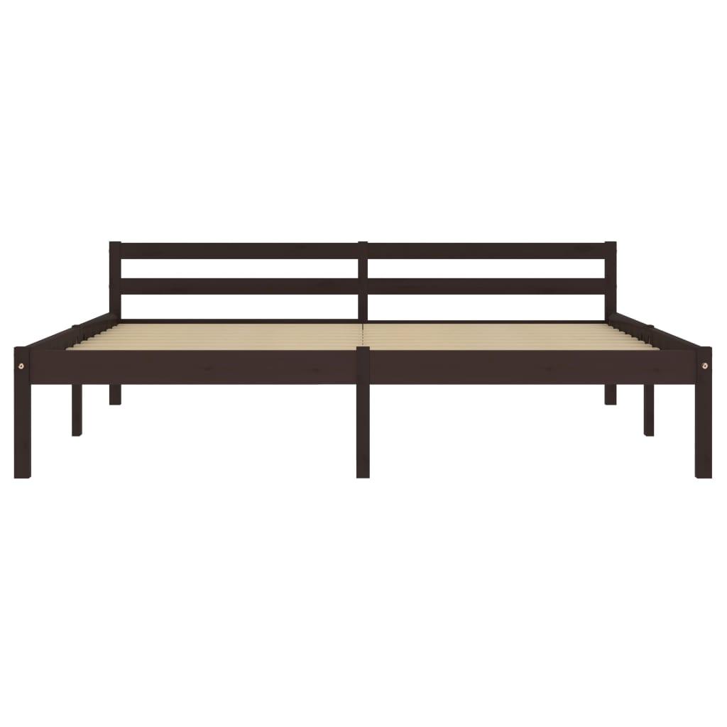 Cadru de pat, gri și alb, 100 x 200 cm, metal