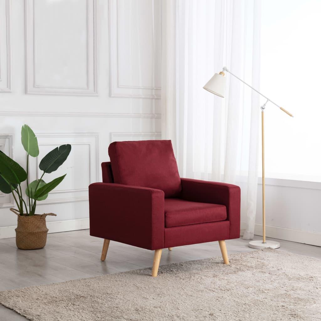 vidaXL Fotoliu, roșu vin, material textil