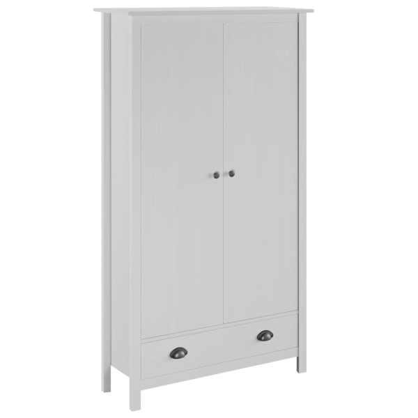 vidaXL Șifonier cu 2 uși Hill Range, alb, 89x50x170 cm, lemn masiv pin