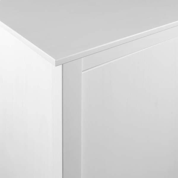 Șifonier cu 3 uși Hill Range alb 142x45x137cm lemn masiv de pin
