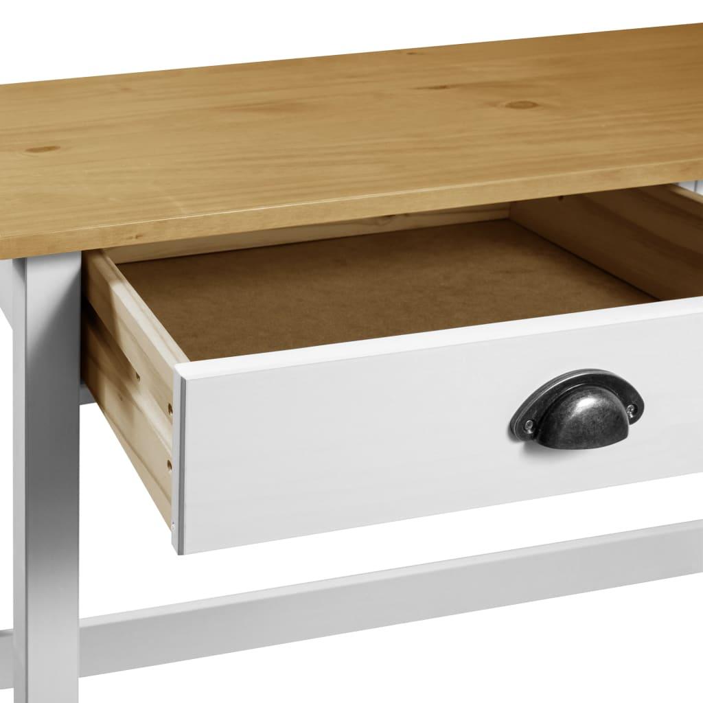 Masă consolă Hill Range cu 2 sertare, 110x45x74cm, lemn de pin