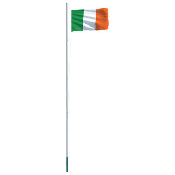 Steag Irlanda și stâlp din aluminiu, 6,2 m