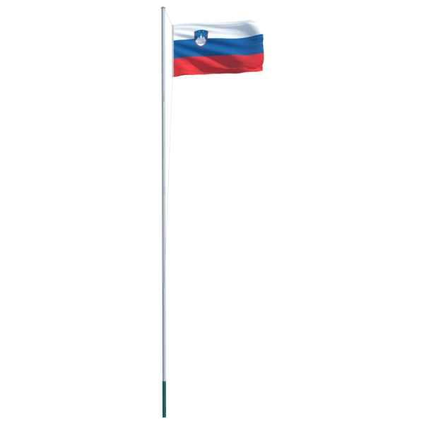 Drapel Slovenia și stâlp din aluminiu, 6,2 m