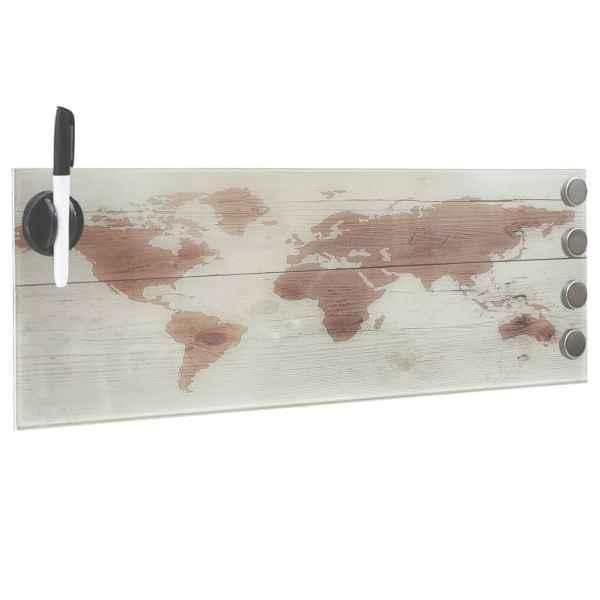 vidaXL Tablă magnetică de perete, 60 x 20 cm, sticlă