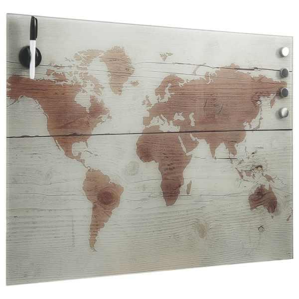 Tablă magnetică de perete, 80 x 60 cm, sticlă