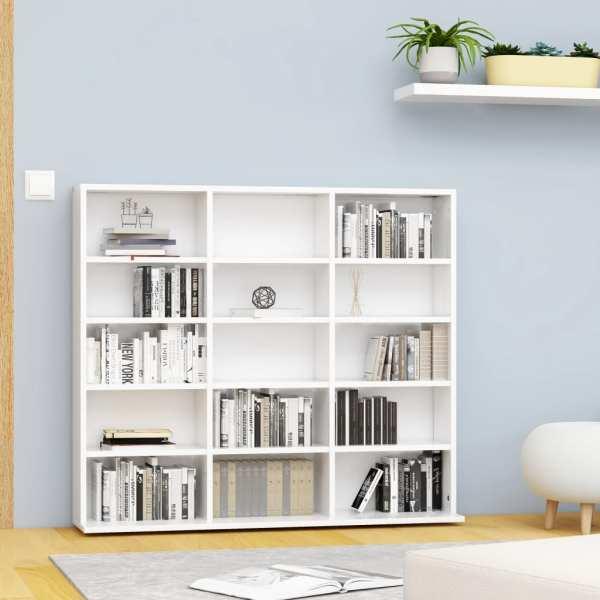 vidaXL Dulap pentru CD-uri, alb, 102 x 23 x 89,5 cm, PAL