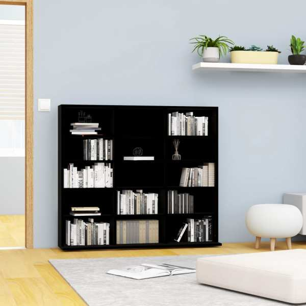 vidaXL Dulap pentru CD-uri, negru, 102 x 23 x 89,5 cm, PAL