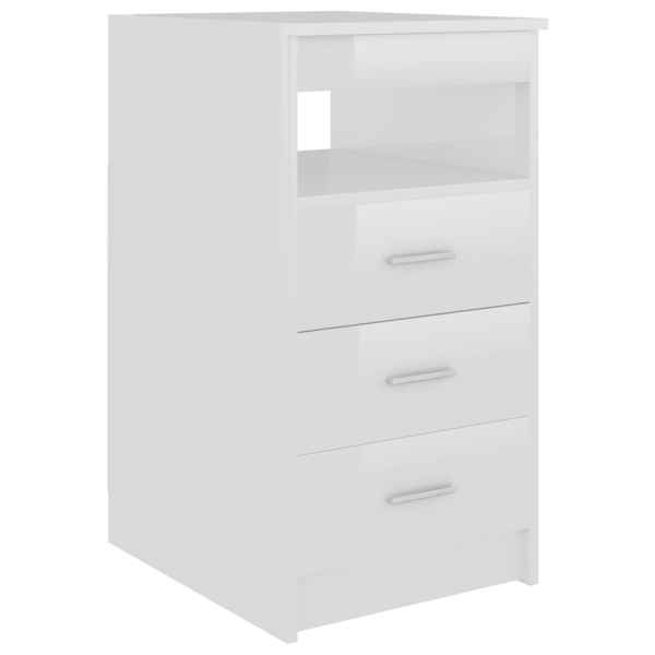 Dulap cu sertare, alb extralucios, 40 x 50 x 76 cm, PAL