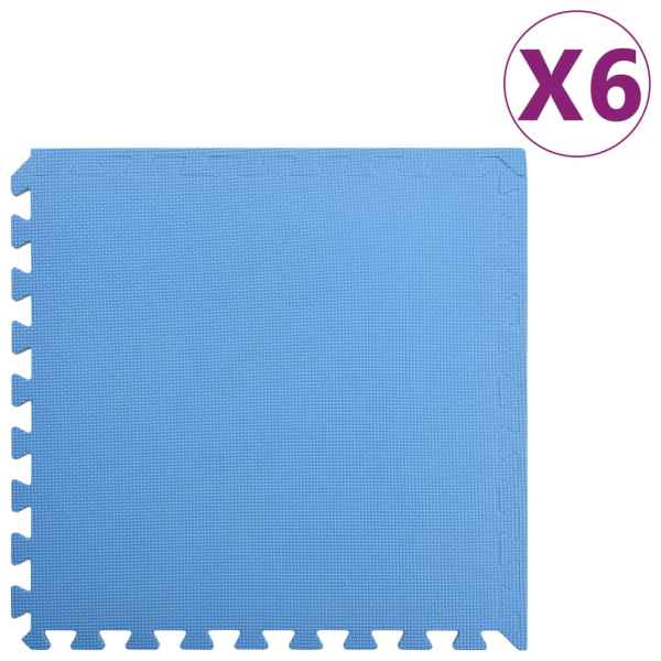 vidaXL Saltele de exerciții, 6 buc., albastru, 2,16 ㎡, spumă EVA