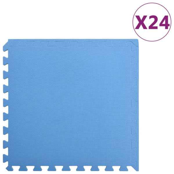 vidaXL Saltele de exerciții, 24 buc., albastru, 8,64 ㎡, spumă EVA