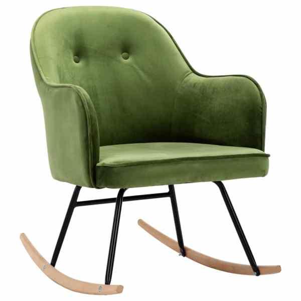 Scaun balansoar, verde deschis, catifea