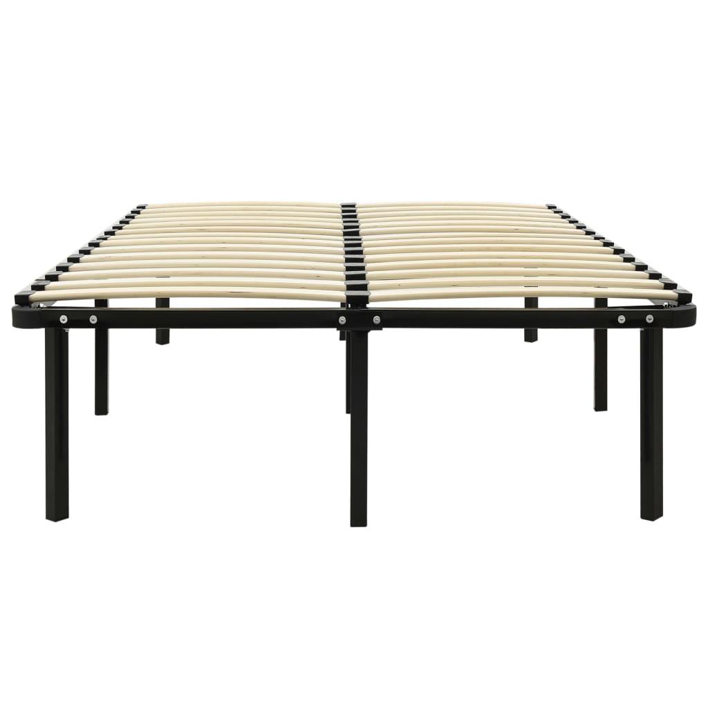 Cadru de pat, negru, 120 x 200 cm, metal