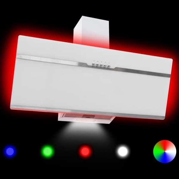 Hotă RGB cu LED, 90 cm, oțel inoxidabil și sticlă securizată