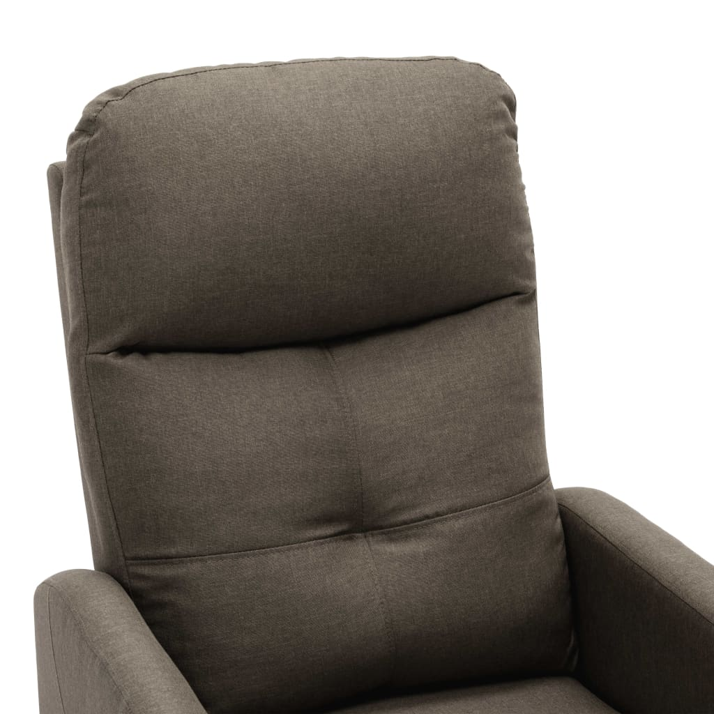 vidaXL Fotoliu rabatabil, gri taupe, material textil