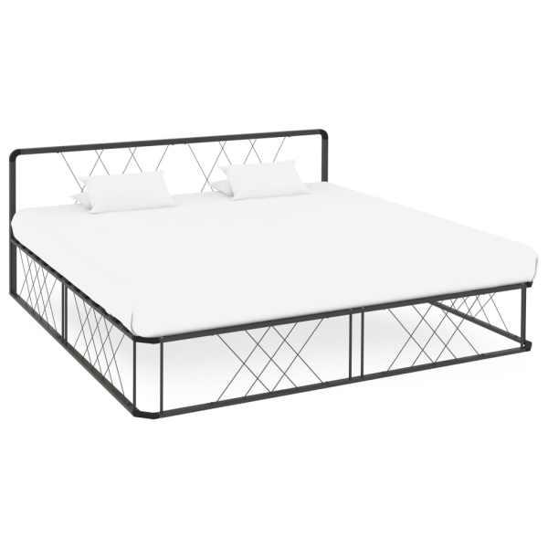 vidaXL Cadru de pat, gri, 180 x 200 cm, metal