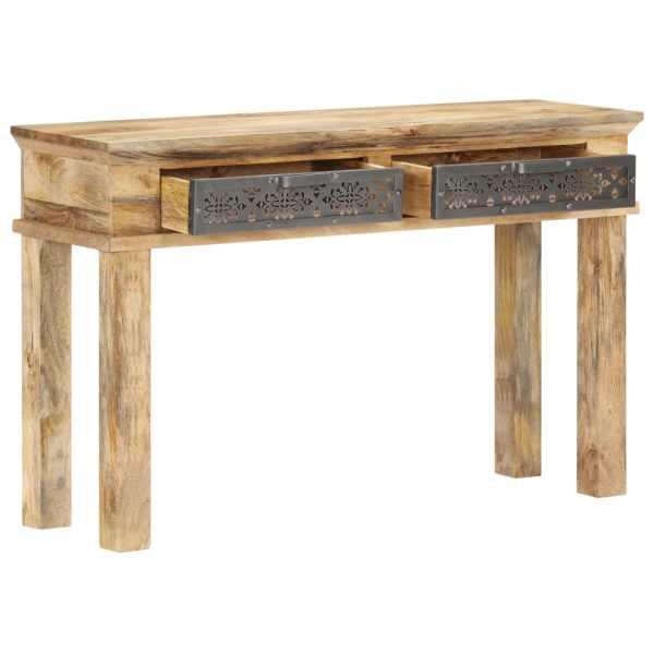 vidaXL Masă consolă cu sertare, 120 x 35 x 75 cm, lemn masiv de mango