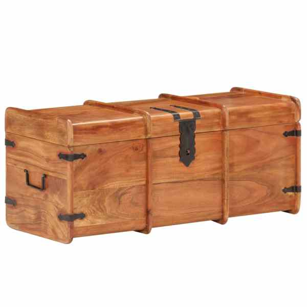 vidaXL Cufăr de depozitare, 90 x 40 x 40 cm, lemn masiv de acacia