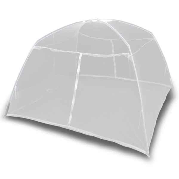 vidaXL Cort camping, alb, 200x180x150 cm, fibră de sticlă