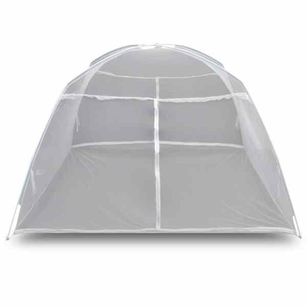 Cort camping, alb, 200x180x150 cm, fibră de sticlă