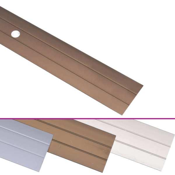 vidaXL Profile de pardoseală, 5 buc., maro, 134 cm, aluminiu