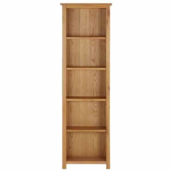 vidaXL Bibliotecă 52×22,5×170 cm lemn masiv de stejar
