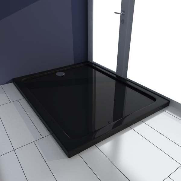 vidaXL Cădiță de duș, negru, 80 x 100 cm, ABS