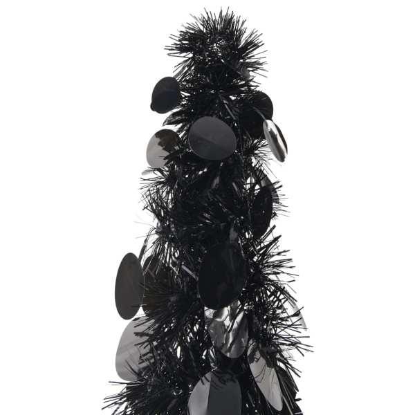 vidaXL Brad de Crăciun artificial tip pop-up, negru, 120 cm, PET