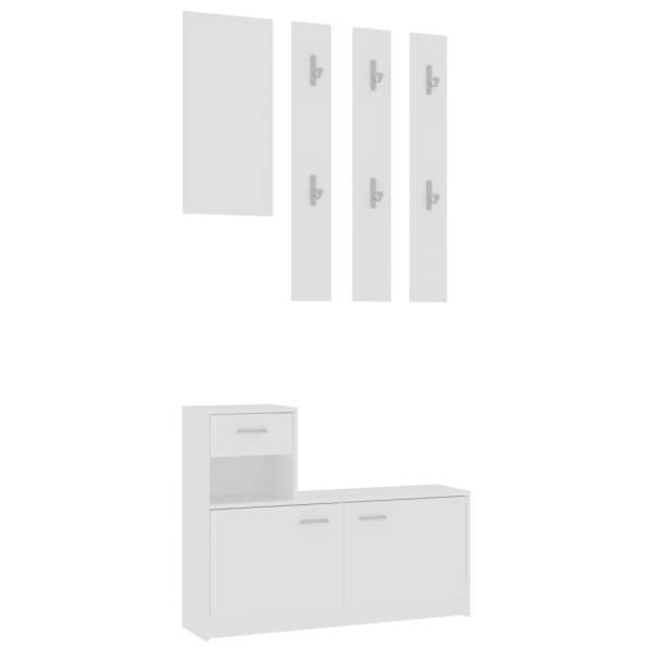 Mobilă pentru hol, alb, 100 x 25 x 76,5 cm, PAL