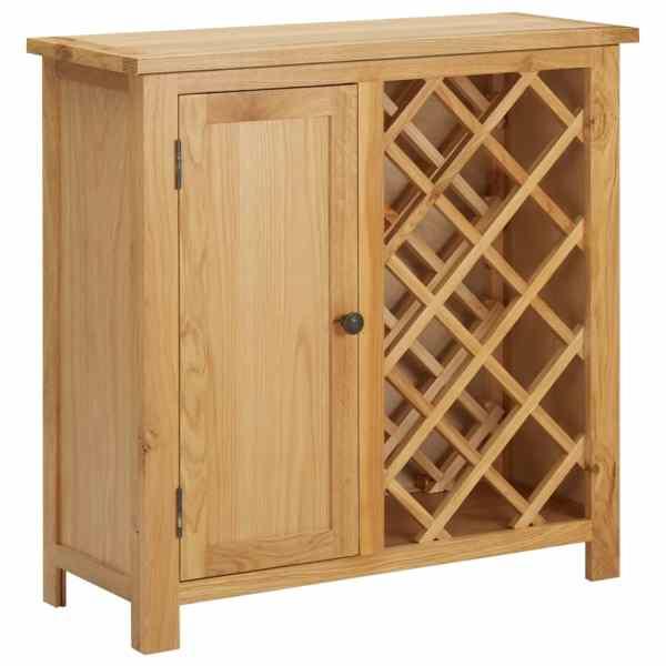 vidaXL Dulap sticle de vin, 11 sticle, 80x32x80 cm, lemn de stejar