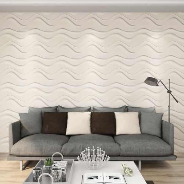 vidaXL Panou 3D de perete, 12 buc., 0,5 x 0,5 m, 3 m²