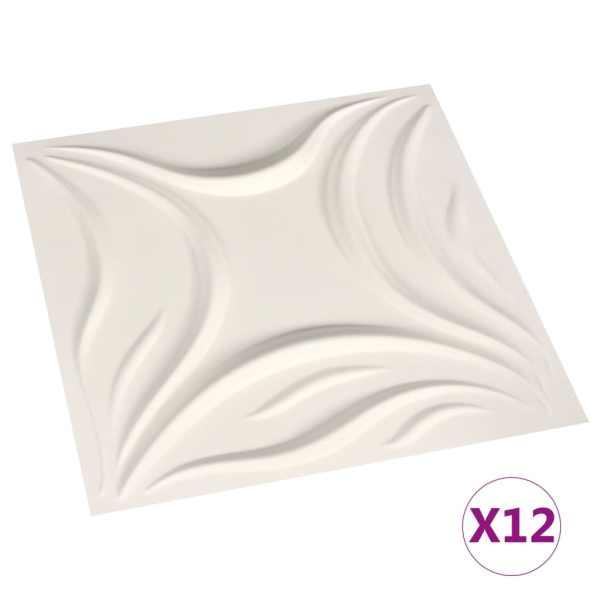 vidaXL Panouri de perete 3D, 12 buc., 0,5 x 0,5 m, 3 m²