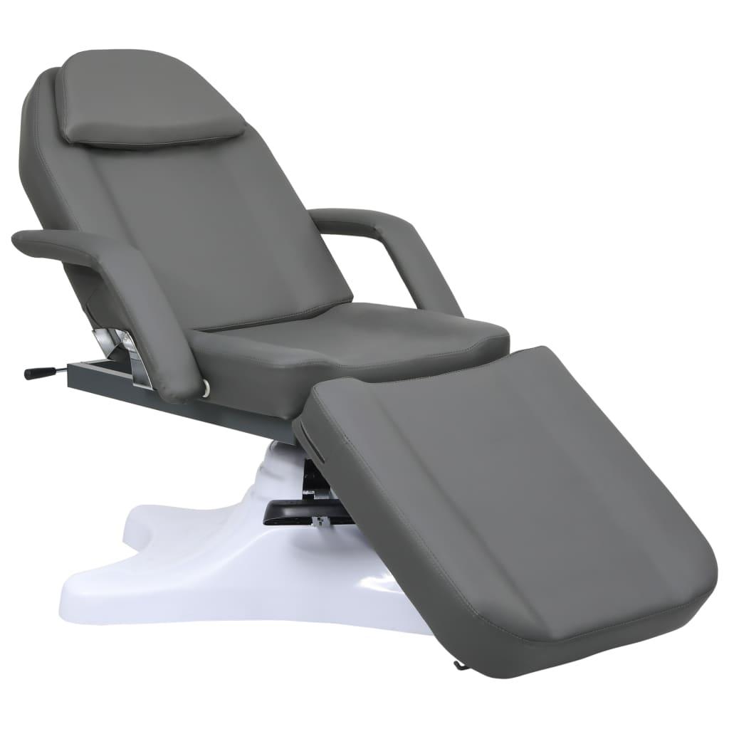 vidaXL Masă de masaj, gri, 180 x 62 x (86,5-118) cm