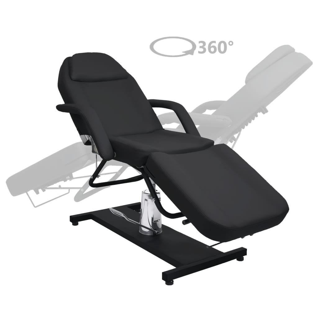 vidaXL Masă de masaj, negru, 180 x 62 x (87-112) cm