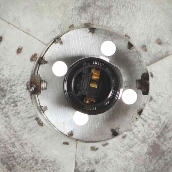 Lampă de perete industrială, argintiu, 45 x 25 cm, E27