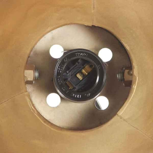 vidaXL Lampă de perete industrială, arămiu, 45 x 25 cm, E27