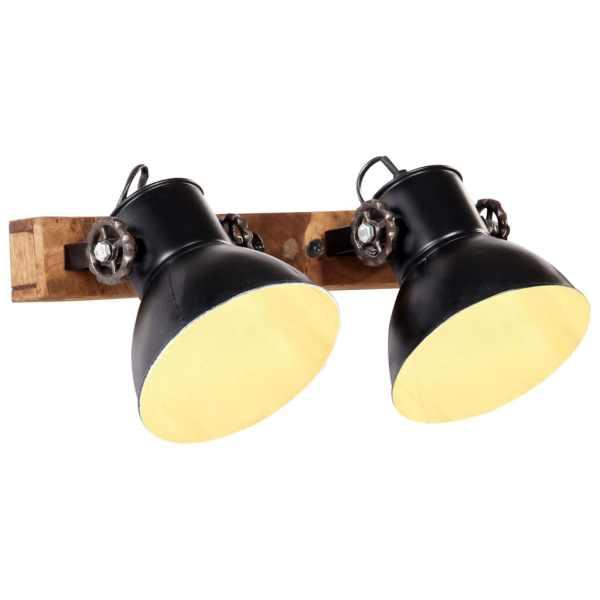 vidaXL Lampă de perete industrială, negru, 45 x 25 cm, E27
