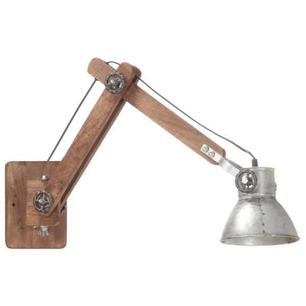 Lampă de perete, stil industrial, argintiu, rotund, E27