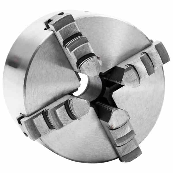 vidaXL Mandrină de strung cu 4 fălci, 100 mm, oțel