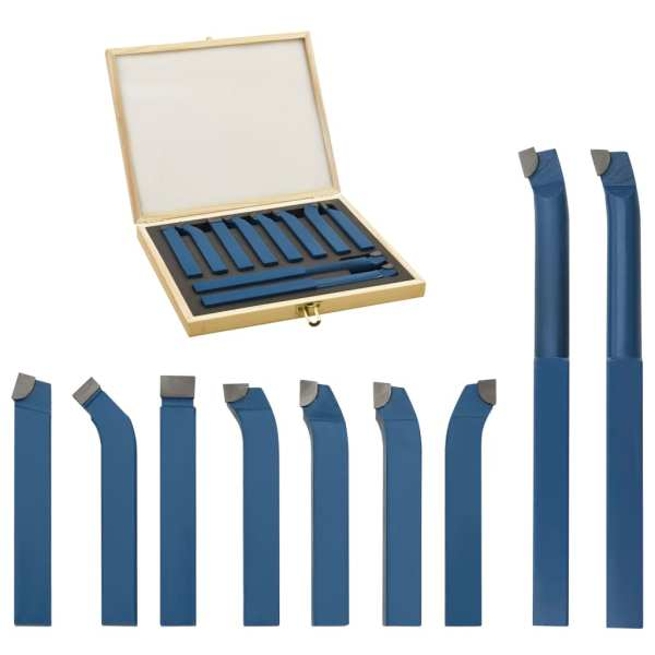 vidaXL Set unelte de strunjire din carbid, 11 piese, 12 x 12 mm, P30