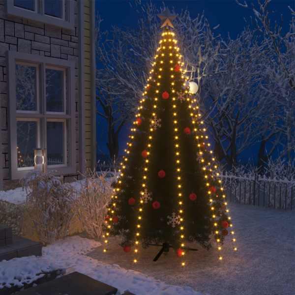 vidaXL Instalație pom de Crăciun tip plasă cu 300 LED-uri IP44 300 cm