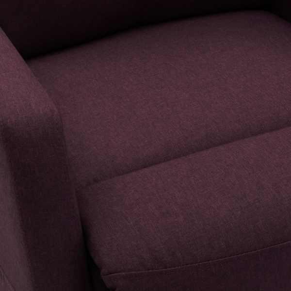 Fotoliu de masaj rabatabil cu ridicare, violet, material textil