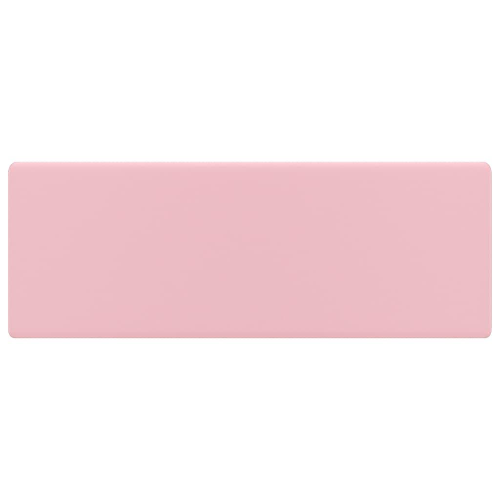 Chiuvetă lux cu preaplin, roz mat, 41×41 cm, ceramică, pătrat