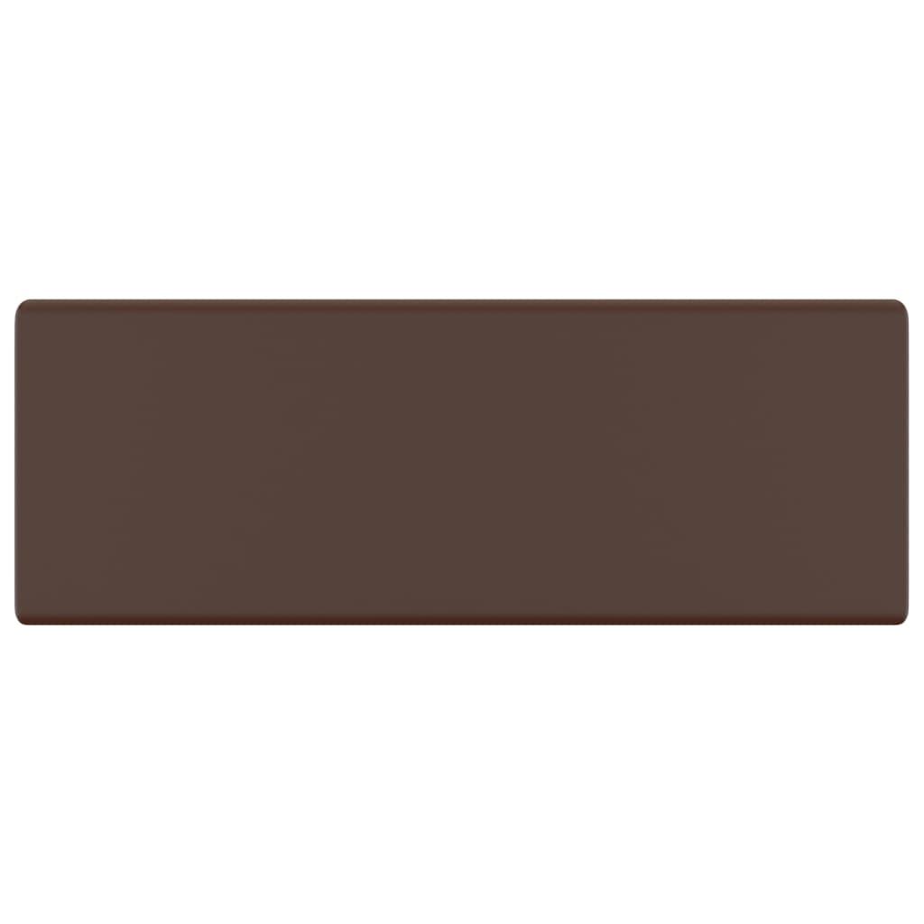 Chiuvetă lux, preaplin maro închis mat 41×41 cm ceramică pătrat