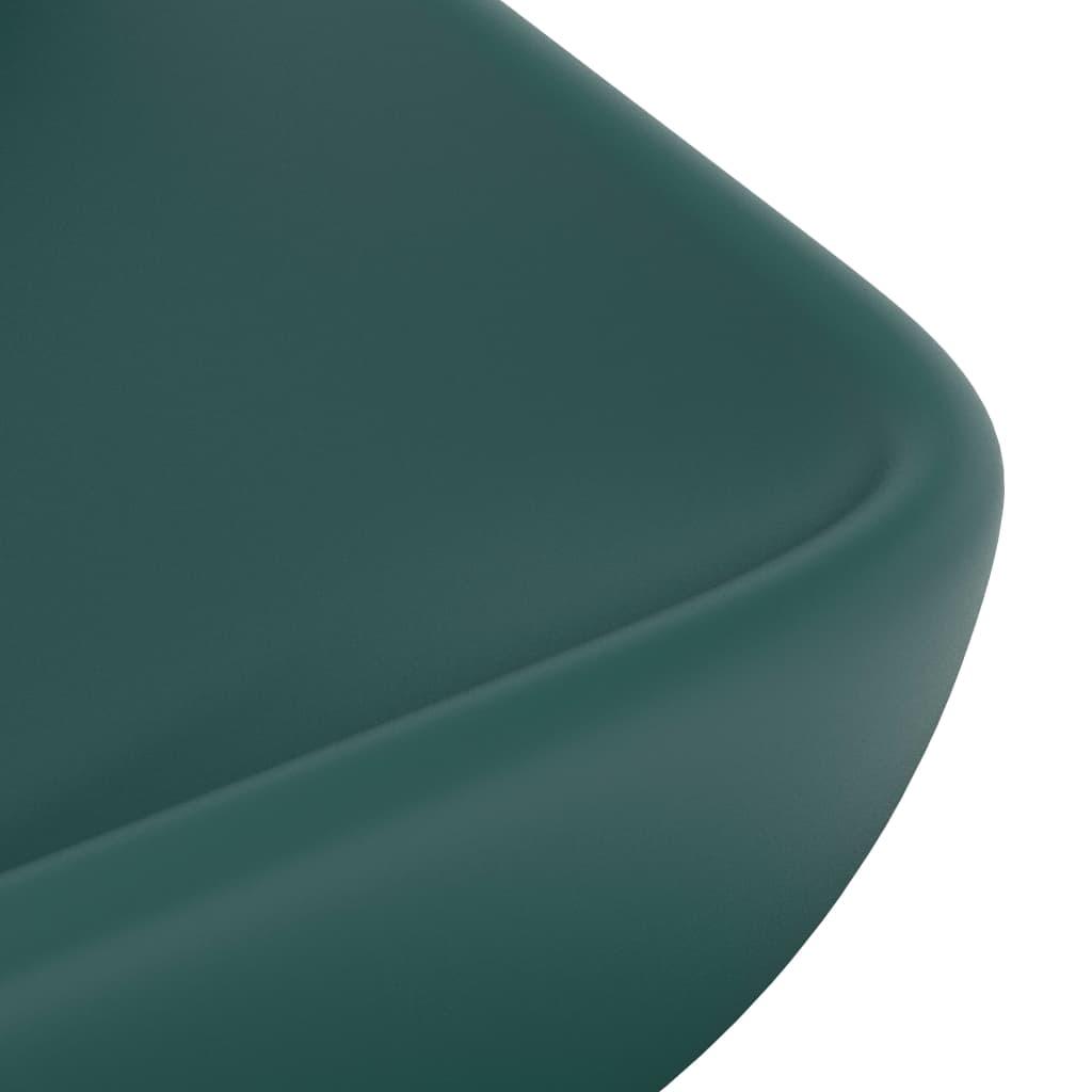 Chiuvetă dreptunghiulară de lux verde închis 71×38 cm ceramică
