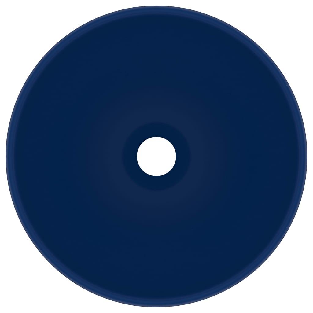 Chiuvetă baie lux albastru închis mat 32,5x14cm ceramică rotund