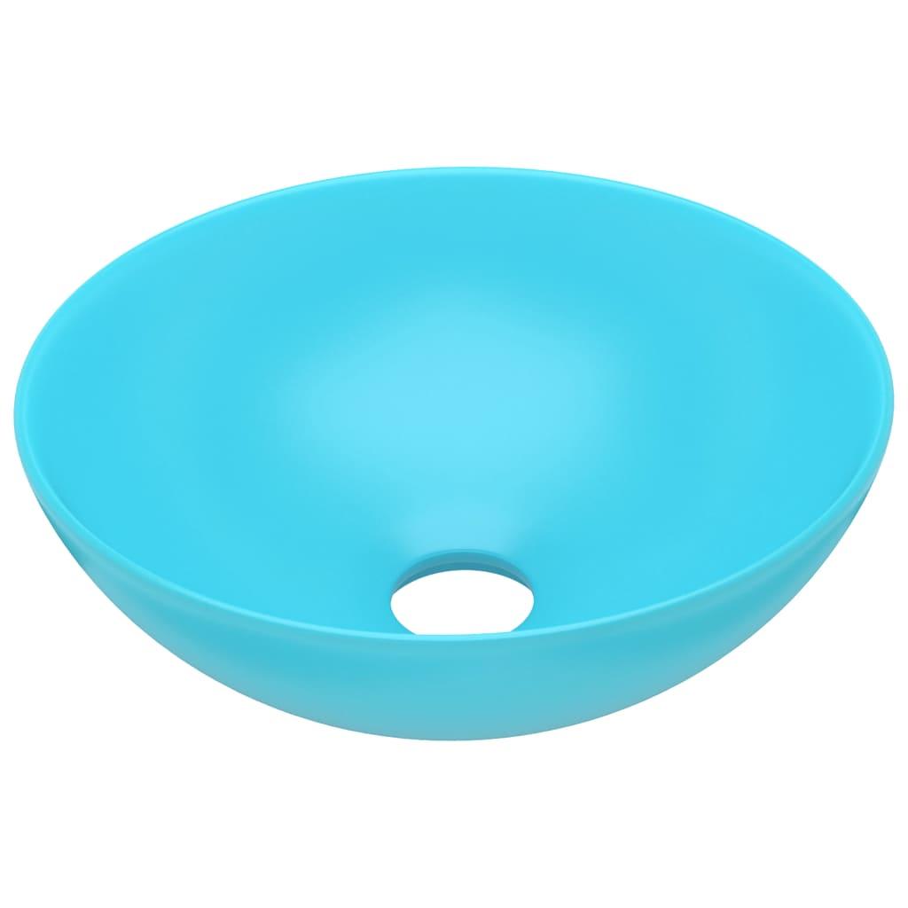 Chiuvetă de baie, verde deschis, ceramică, rotund