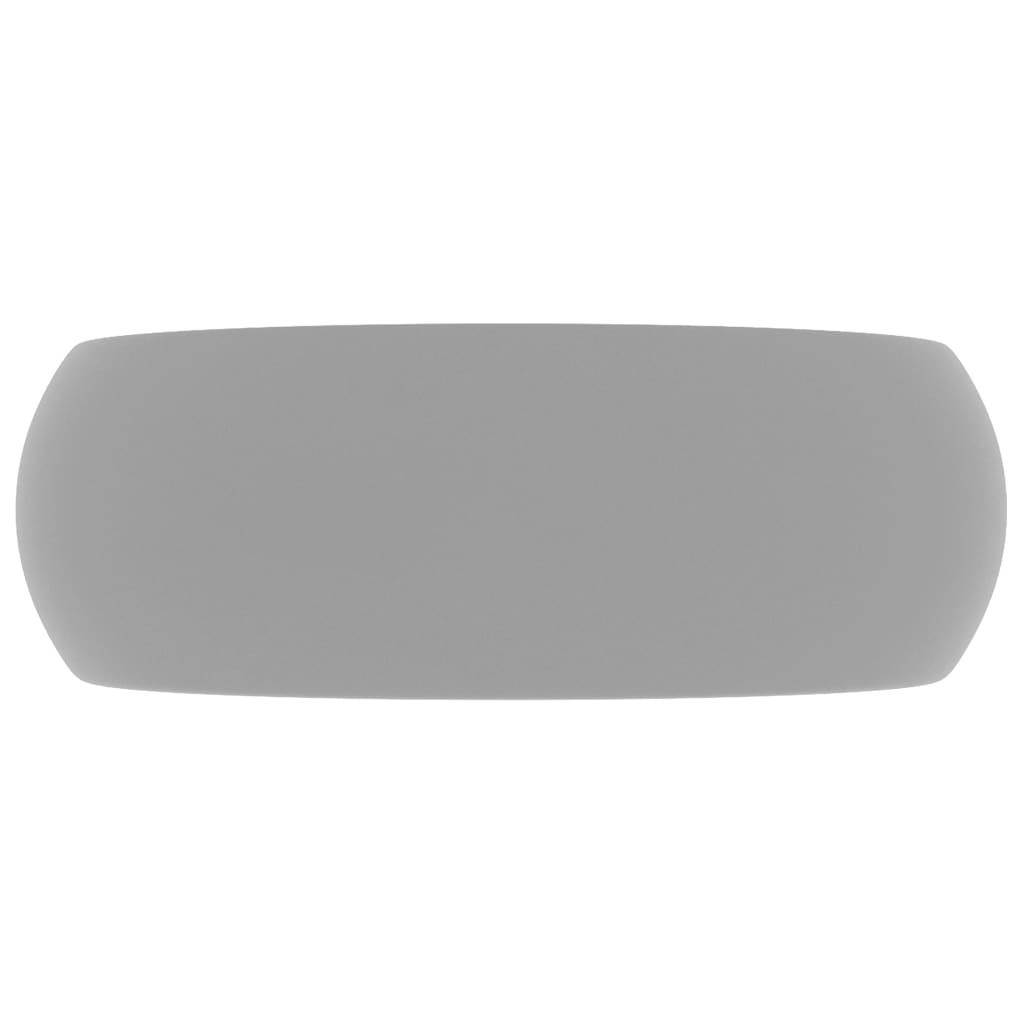 Chiuvetă baie lux gri deschis mat 40×15 cm ceramică rotund
