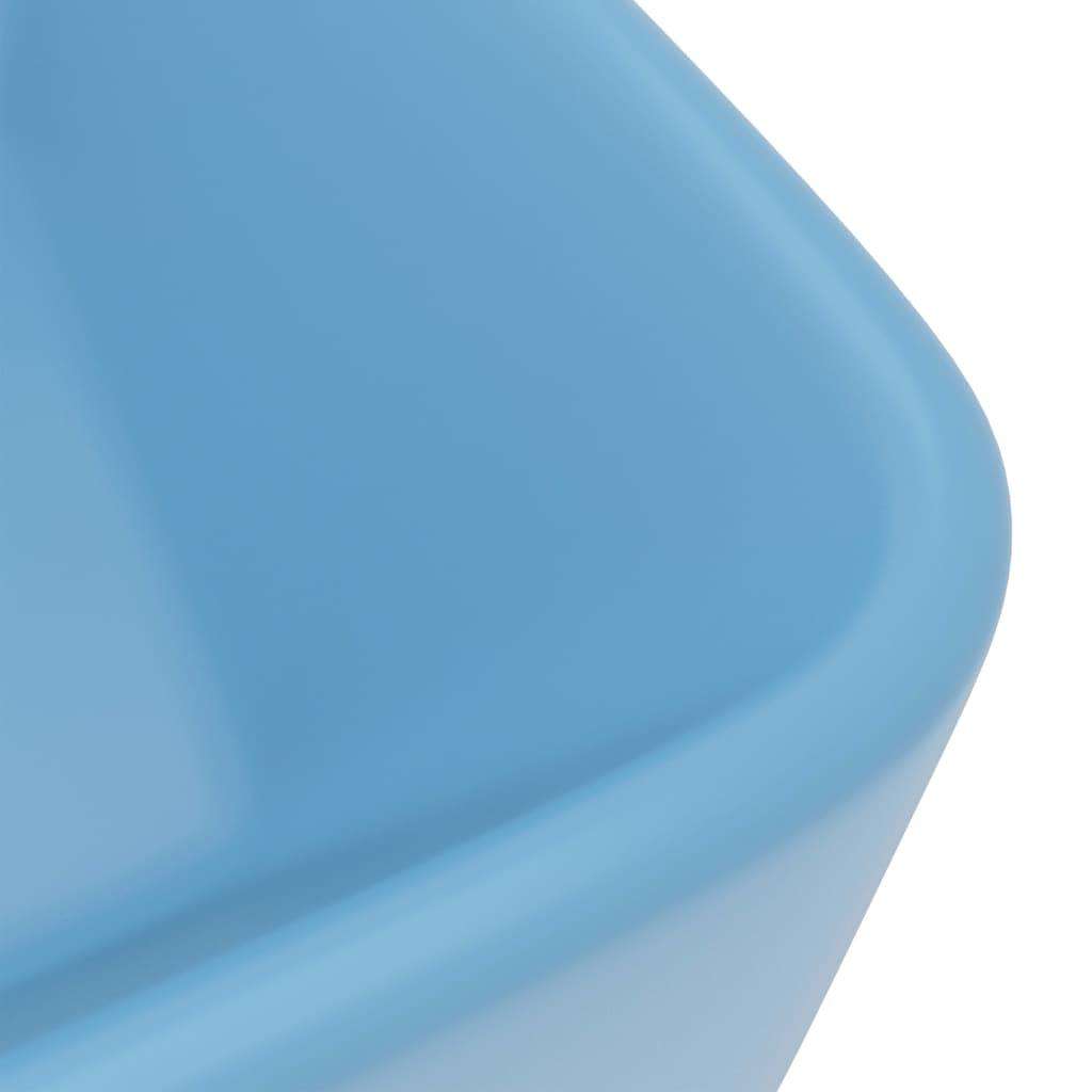 Chiuvetă de baie lux albastru deschis mat 41x30x12 cm ceramică