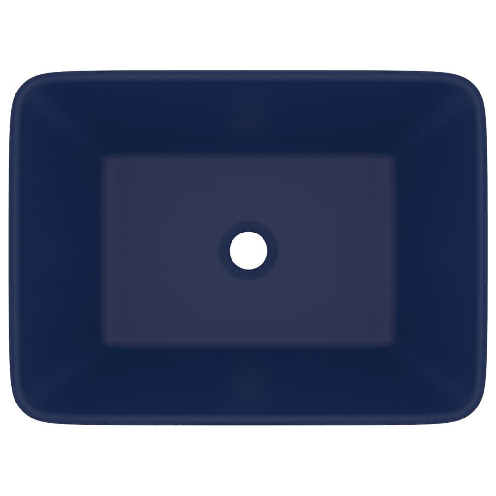 Chiuvetă de baie lux, albasru închis mat, 41x30x12 cm, ceramică